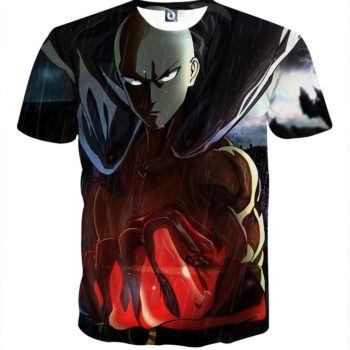 Tee shirt 3D inspiration One Punch Man Pluie
