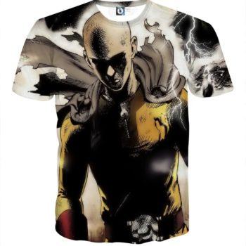 Tee shirt 3D inspiration One Punch Man colère