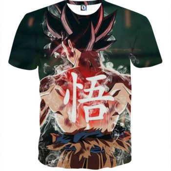 Tee shirt 3D inspiration Dragon Ball San Goku shakra