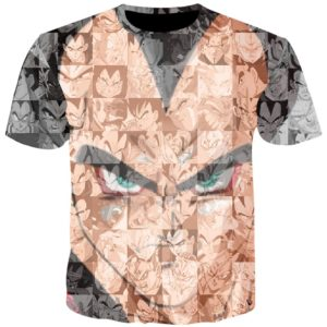Tee shirt 3D inspiration Dragon Ball Vegeta Puzzle