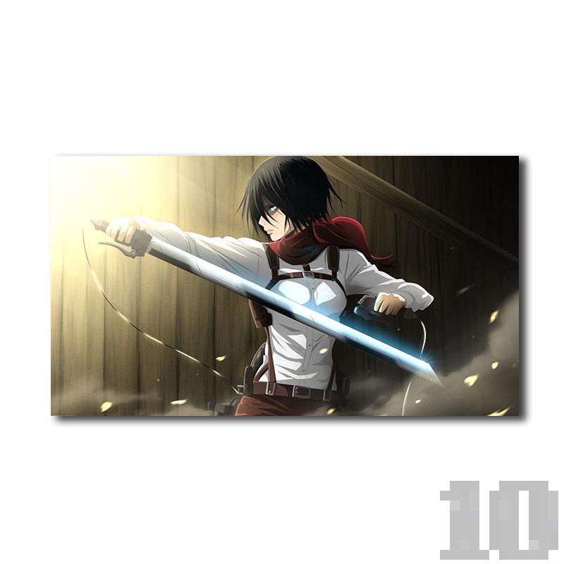 Poster attaque des titans Mikasa armée