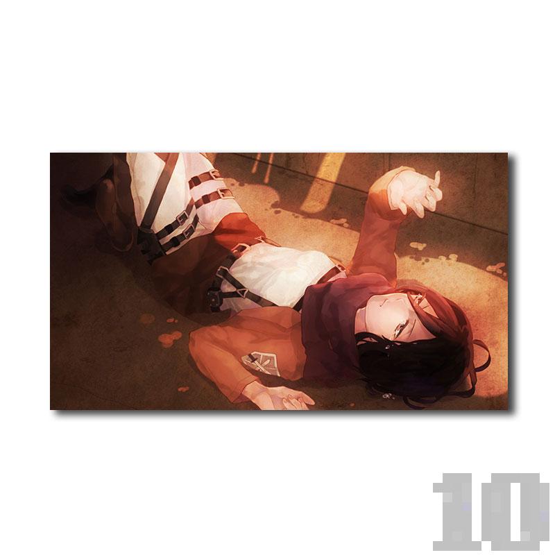 Poster attaque des titans Mikasa sommeil